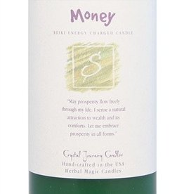 Money Reiki Charged Candle