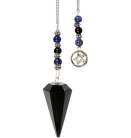Pendulum - Black Obsidian with Pentacle