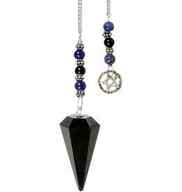 Pendulum - Black Obsidian with Pentacle