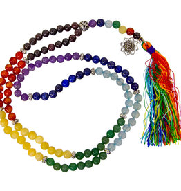 Mala - 7 Chakras Gemstone with Lotus Symbol