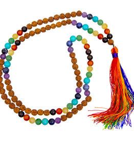Mala - 7 Chakras with Rudraksha Beads