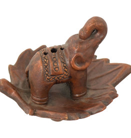 Elephant Ceramic Terra Cotta Incense Holder