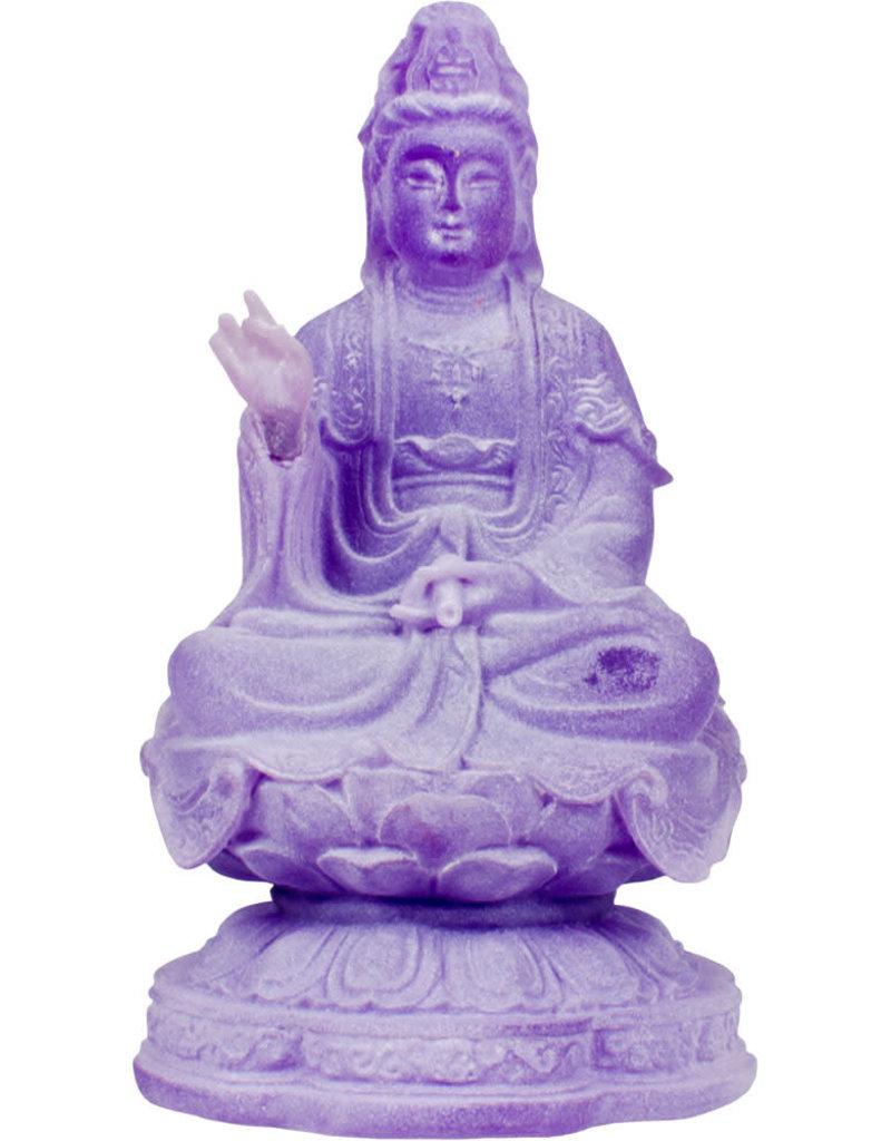Statue - Frosted Meditating Kwan Yin Feng Shui