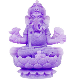 Statue - Sitting Ganesha - Frosted Acrylic Purple Feng Shui