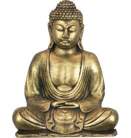 Statue - Meditating Buddha Golden Polyresin