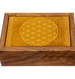 Box - Laser Etched Flower of Life