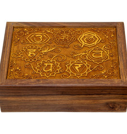 Box - 7 Chakras - Laser Etched