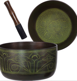 Singing Bowl - Embossed - Five Dhyani Buddhas