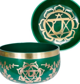 Singing Bowl - Green - Heart