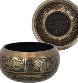 Singing Bowl - Embossed 8 Auspicious Symbols Small