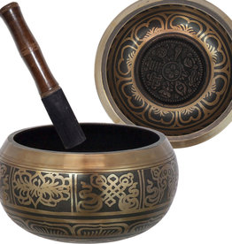Singing Bowl - Large 8 Auspicious Symbols