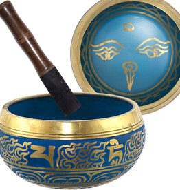 Singing Bowl - Eye of Buddha Blue