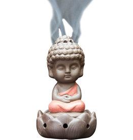 Incense Holder - Ceramic Buddha - Orange