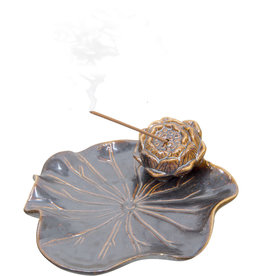 Incense Holder - Ceramic Water Lily
