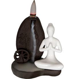 Incense Holder - Ceramic Backflow - Yoga