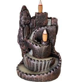 Incense Holder - Ceramic Backflow - Castle