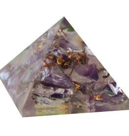 Orgone Pyramid - Amethyst - Crown Chakra