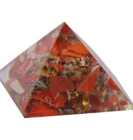 Orgone Pyramid - Jasper - Root Chakra