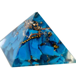 Orgone Pyramid - Firozi (Indian Turquoise) - Throat Chakra