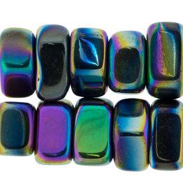 Magnetic Rainbow Hematite Tumble