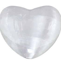 Selenite White Heart  - 1 inch
