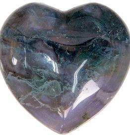 Moss Agate Heart