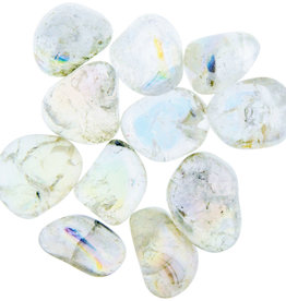 Angel White Aura Quartz Tumble