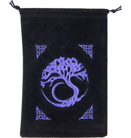Pouch - Tree of Life Embroidered Velvet