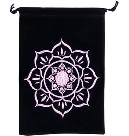 Pouch - Lotus Embroidered Velvet