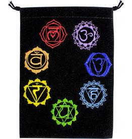 Pouch - 7 Chakra Embroidered Velvet