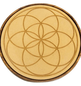 Wood Crystal Grid - Seed of Life