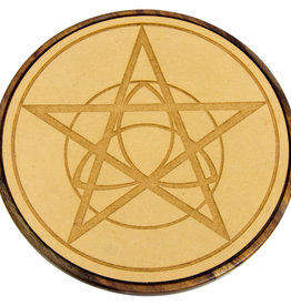 Wood Crystal Grid - Celtic Pentacle