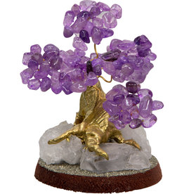 Bonsai Gemstone Wishing Tree - Amethyst
