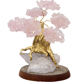 Bonsai Gemstone Wishing Tree - Rose Quartz
