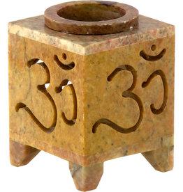 Oil Burner - Soapstone with Om Symbol