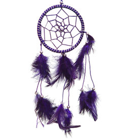 Dream Catcher - Purple Feathers - Small
