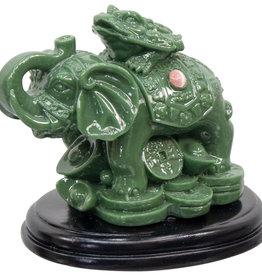 Statue - Prosperity Elephant - Feng Shui - Jade