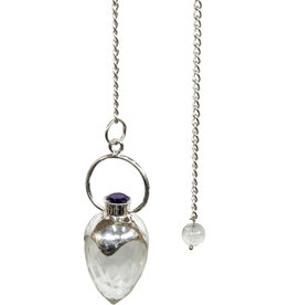 Pendulum - Faceted Clear Quartz with Amethyst