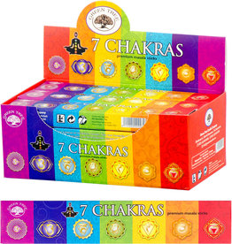 Incense - Green Tree 7 Chakras - 15 gram