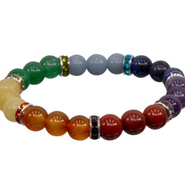 Bracelet - 7 Chakra with Roundel Spacer