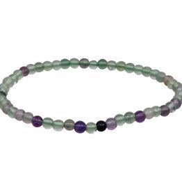 Bracelet - Rainbow Fluorite - 4-5mm