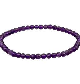 Bracelet - Amethyst - 4mm