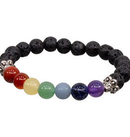 Bracelet - 7 Chakras with Lava