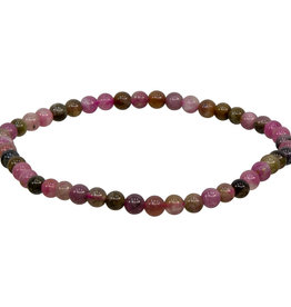 Bracelet - Pink Mix Tourmaline - 4mm