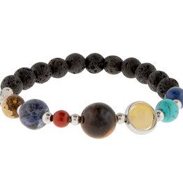 Bracelet - Gemstone & Lava Solar System