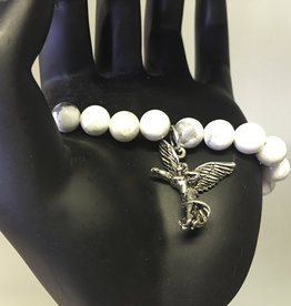 Bracelet - Moonstone with Protection Angel
