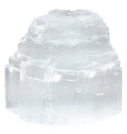 White Selenite Gemstone Tea Light Holder