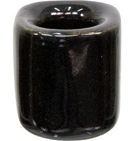 Black Ceramic Chime Candle Holder
