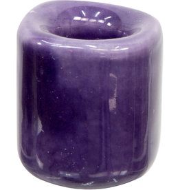 Purple Ceramic Chime Candle Holder