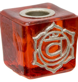 Sacral Chakra Mini Glass Candle Holder